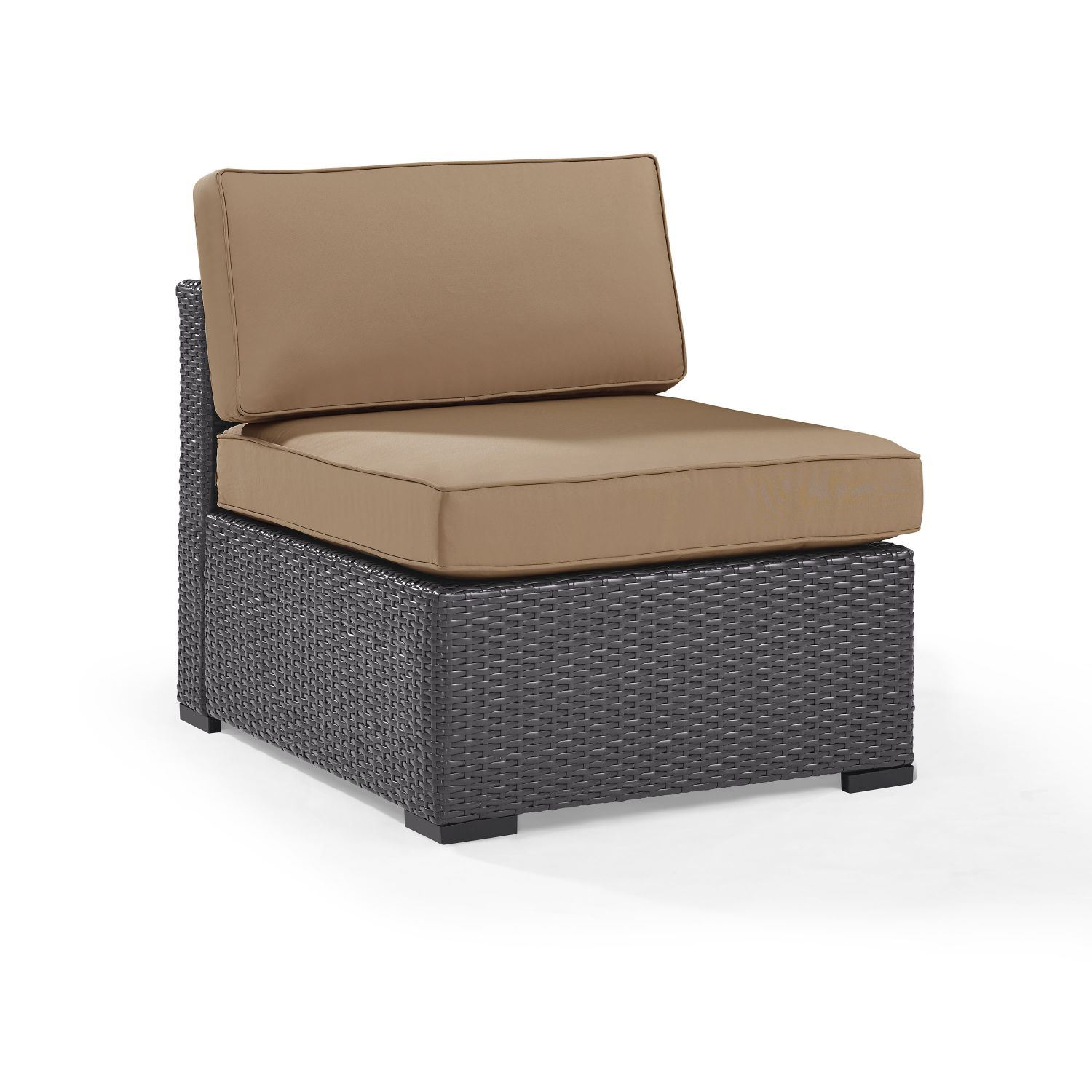 Picture of BISCAYNE ARMLESS CHAIR W/MOCHA CUSHIONS