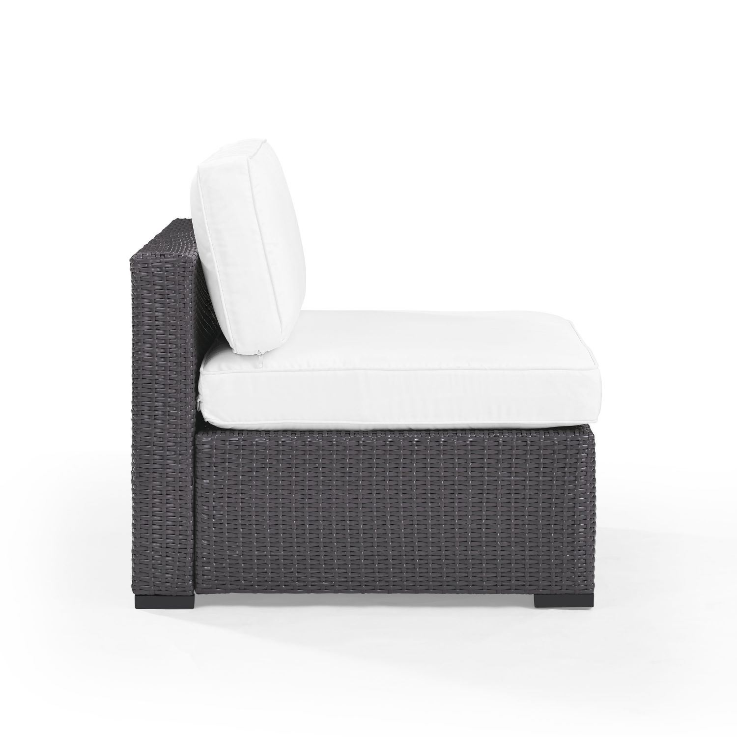 Picture of BISCAYNE ARMLESS CHAIR W/WHITE CUSHIONS