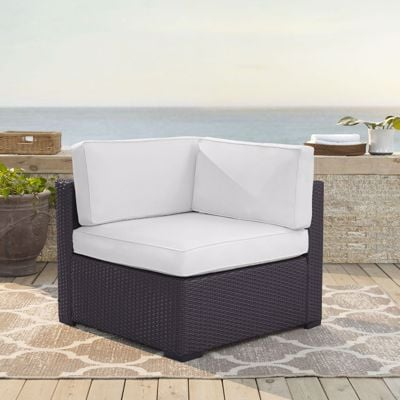 Picture of BISCAYNE CORNER CHAIR W/WHITE CUSHIONS