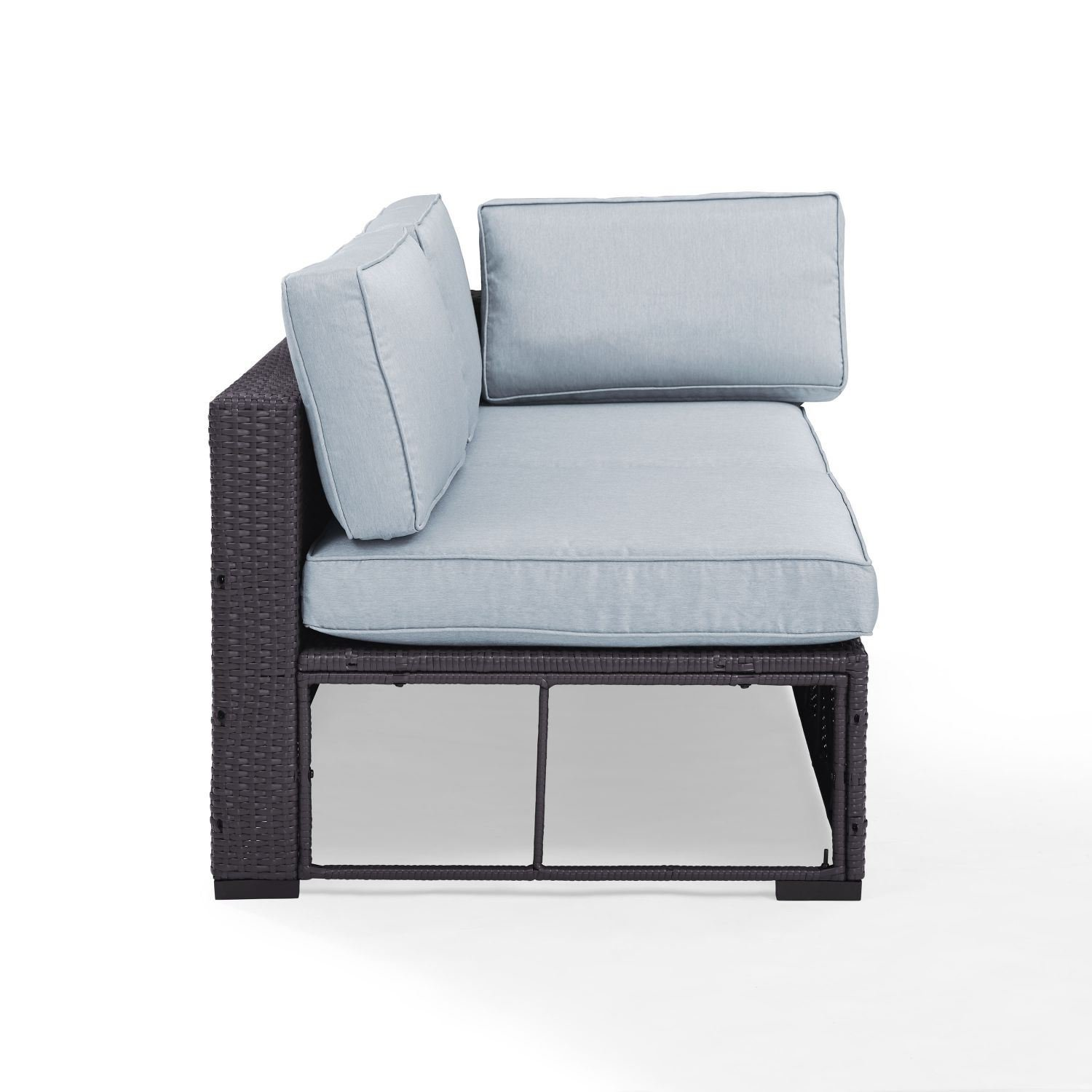 Picture of BISCAYNE LOVESEAT W/BLUE CUSHIONS