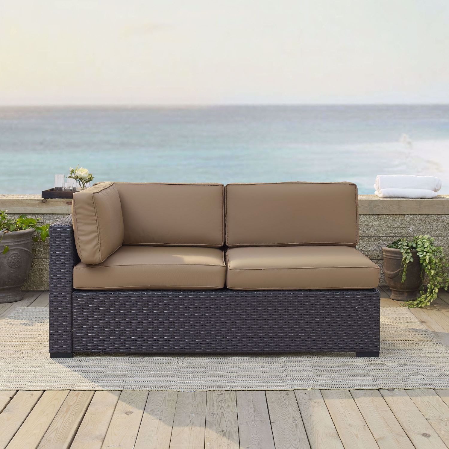 Picture of BISCAYNE LOVESEAT W/MOCHA CUSHIONS