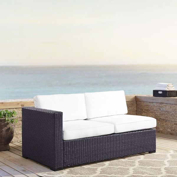 Picture of BISCAYNE LOVESEAT W/WHITE CUSHIONS