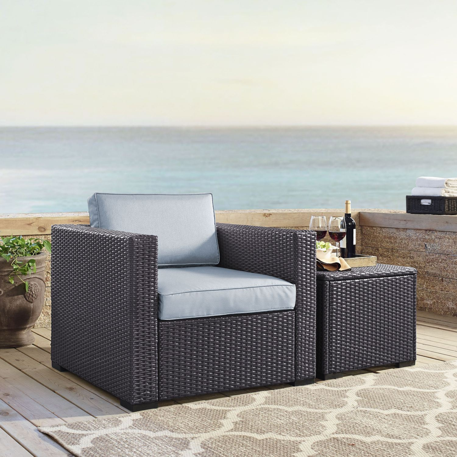 Picture of BISCAYNE ARMCHAIR MIST