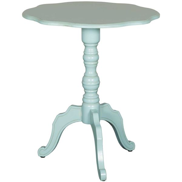 Picture of Green Scalloped Table