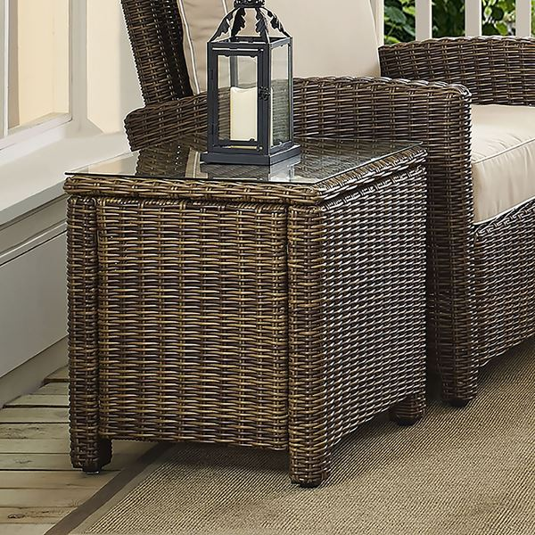 Picture of BRADENTON OUTDOOR WICKER RECTANGULAR SIDE TABLE