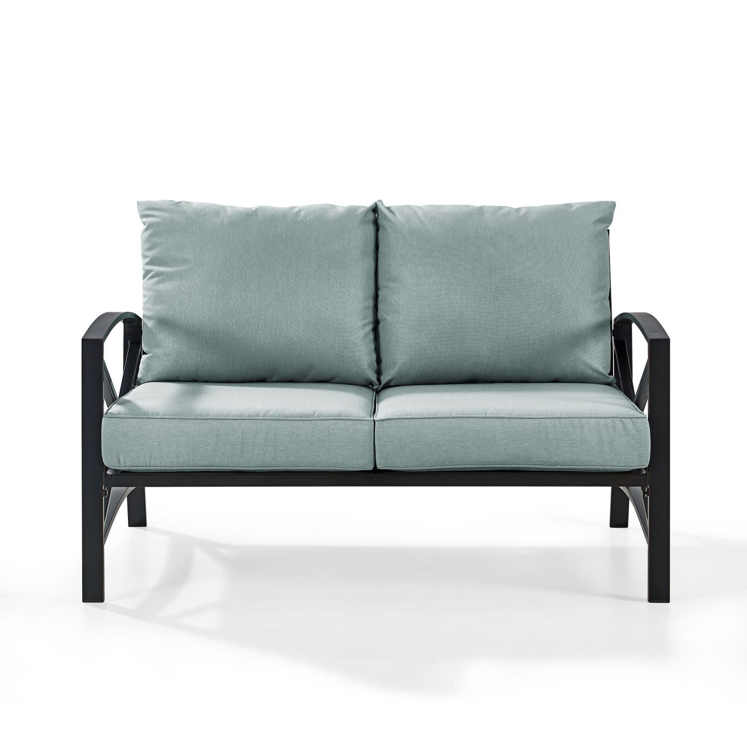 Picture of KAPLAN LOVESEAT IN OILED BRONZE WITH MIST UNIVERSA