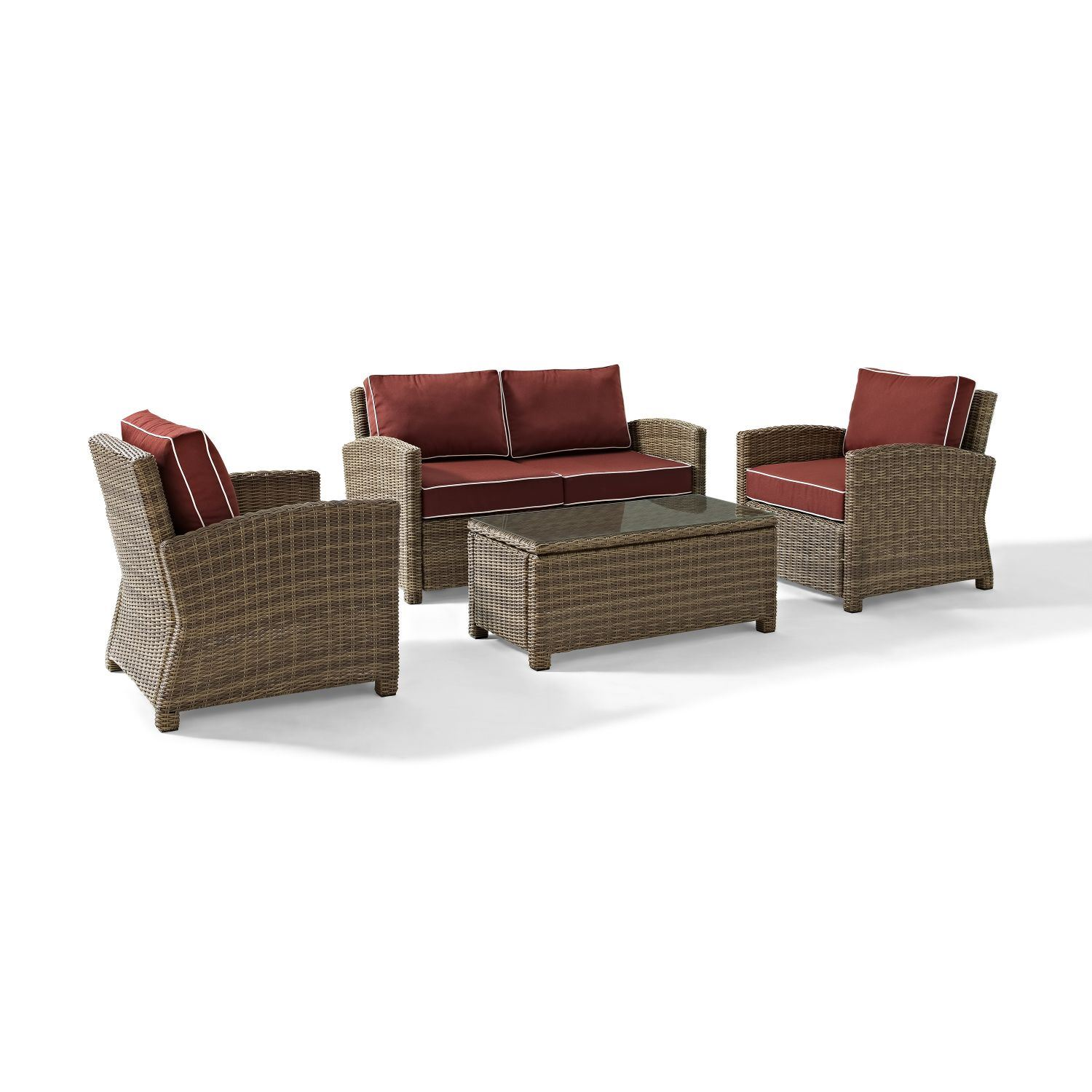 Picture of BRADENTON 4 PIECE OUTDOOR WICKER SEATING SET WITH