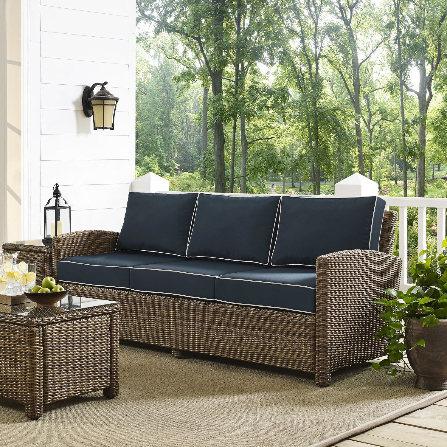 Picture of BRADENTON SOFA WITH NAVY CUSHIONS