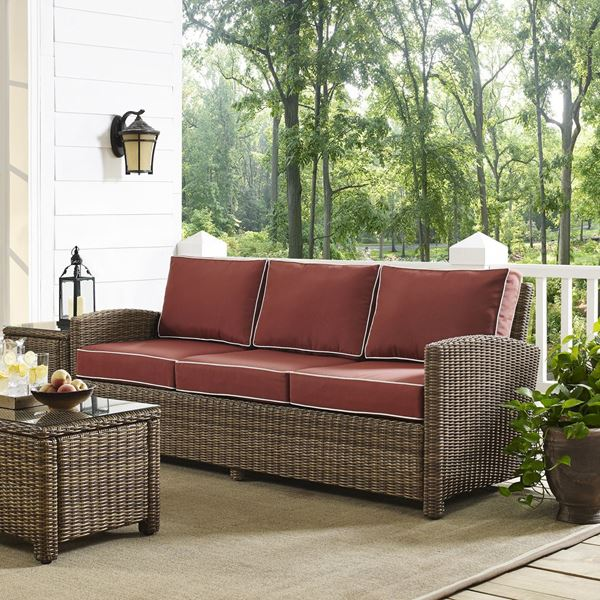 Picture of BRADENTON SOFA WITH SANGRIA CUSHIONS