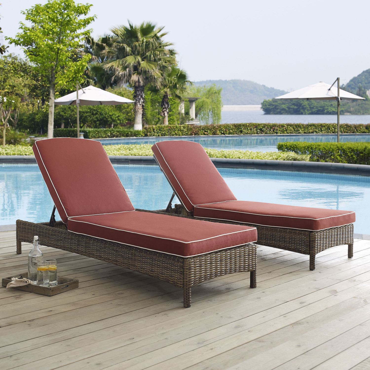 Picture of BRADENTON CHAISE LOUNGE WITH SANGRIA CUSHIONS