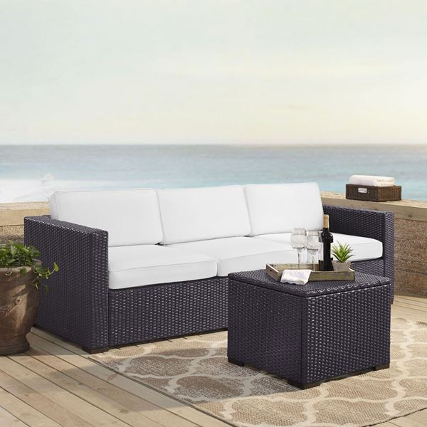 Picture of BISCAYNES SOFA W/TBL WHITE