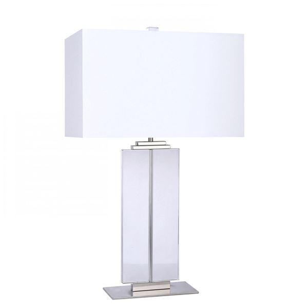 Picture of Crystal and Nickel Table Lamp