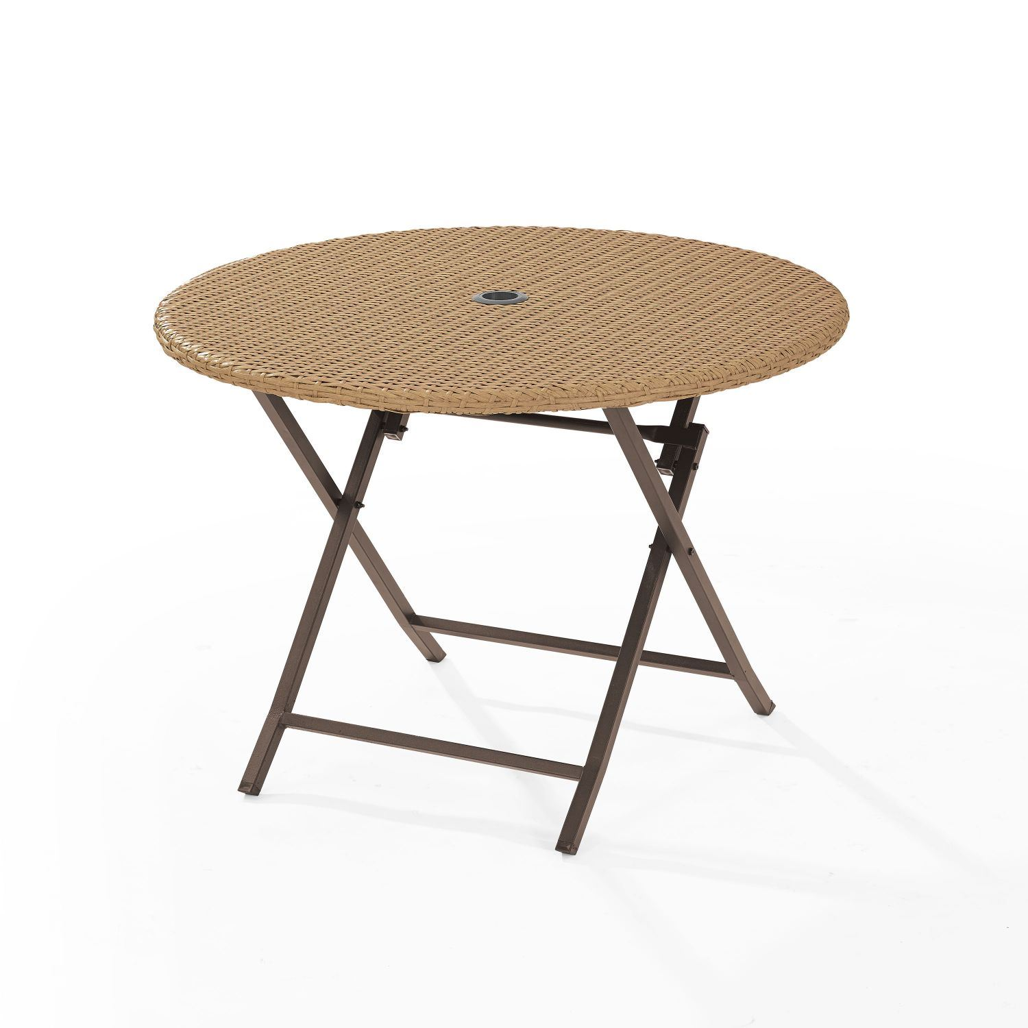 Palm Harbor Outdoor Wicker Folding Table Co7205 Lb