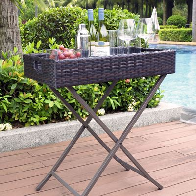 Picture of PALM HARBOR OUTDOOR WICKER BUTLER TRAY
