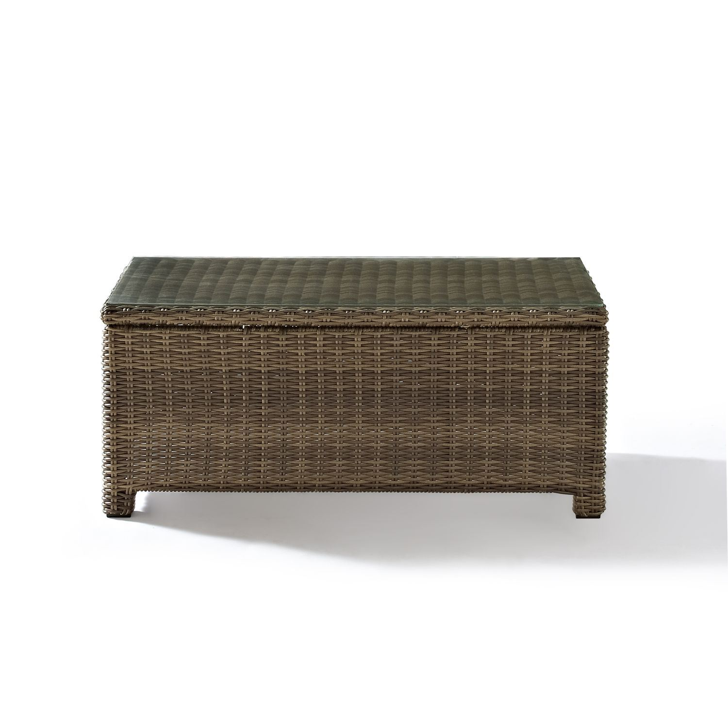 Picture of BRADENTON OUTDOOR WICKER GLASS TOP TABLE