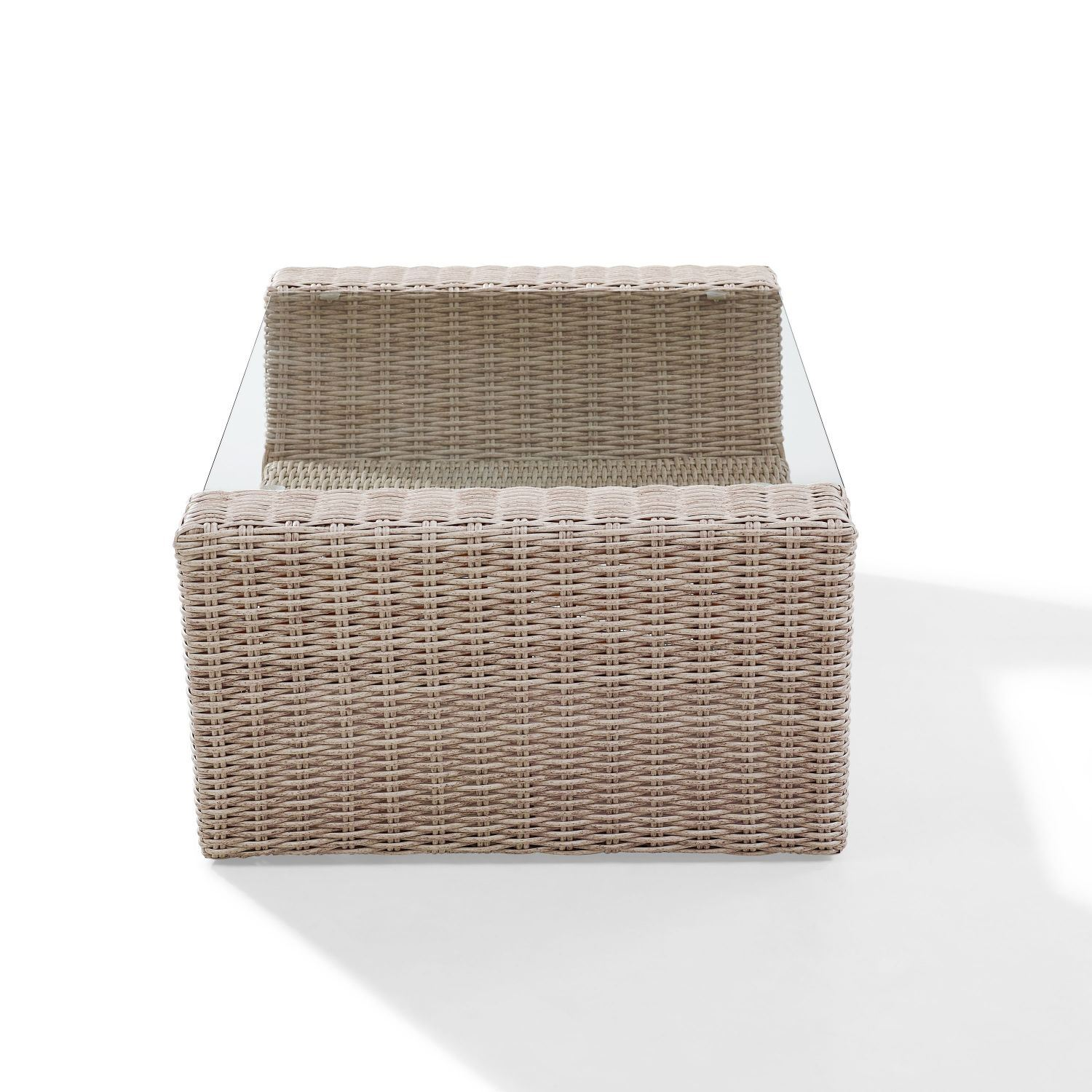 Picture of ST AUGUSTINE OUTDOOR WICKER COFFEE TABLE IN WEATHE