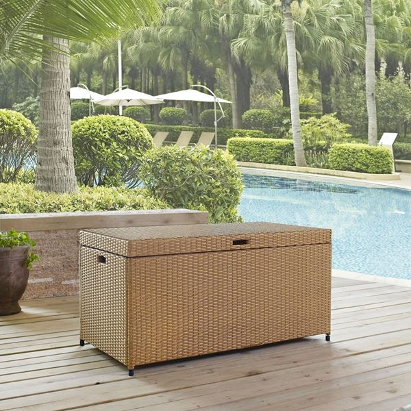 Picture of PALM HARBOR OUTDOOR WICKER STORAGE BIN