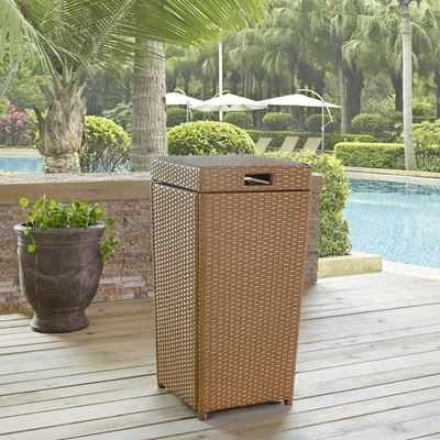 Picture of PALM HARBOR OUTDOOR WICKER TRASH BIN