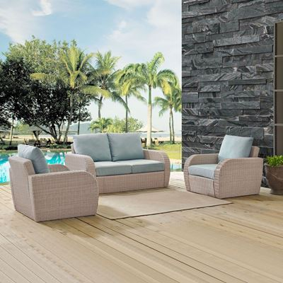 Picture of ST AUGUSTINE 3 PC OUTDOOR WICKER SEATING SET WITH