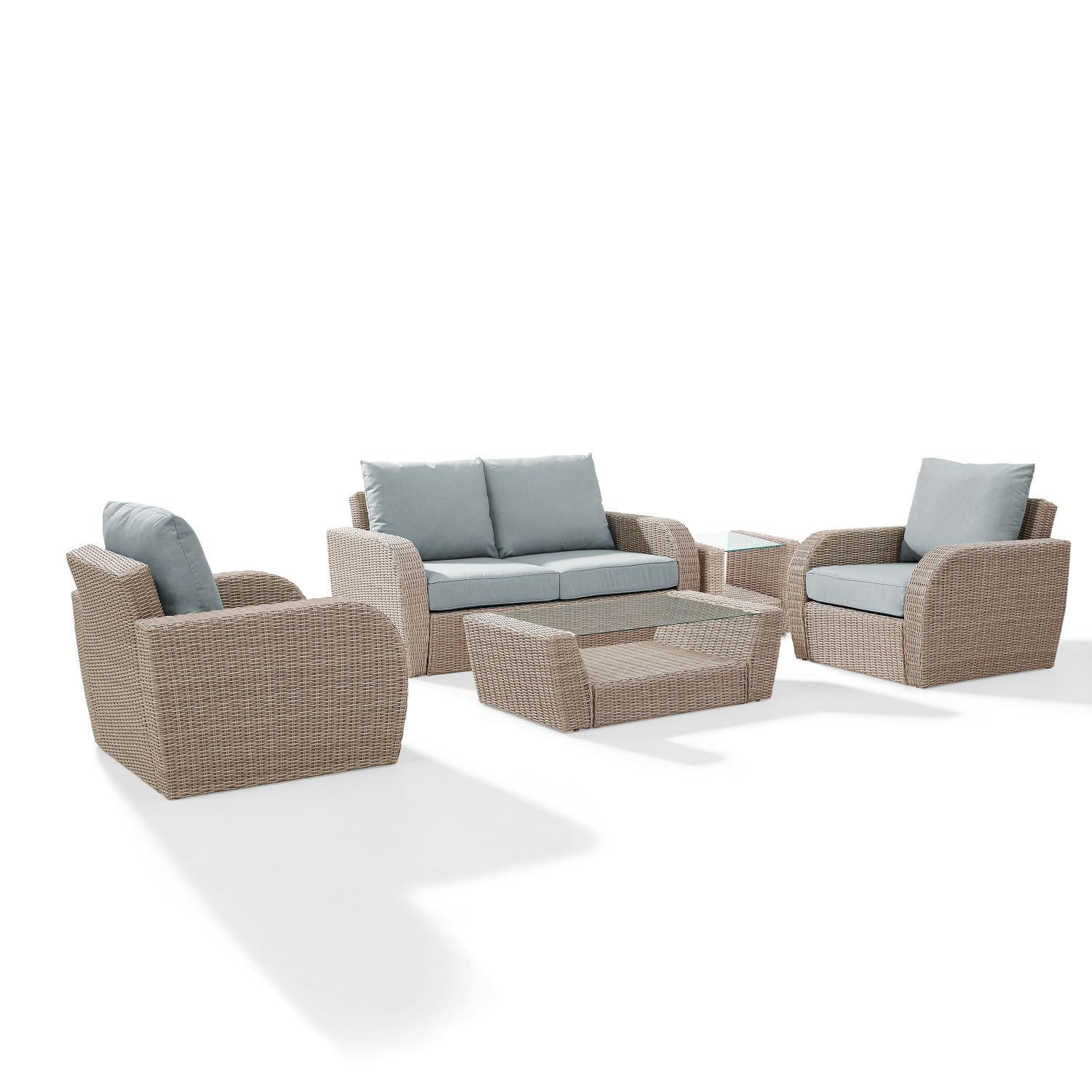 Picture of ST AUGUSTINE 5 PC OUTDOOR WICKER SEATING SET WITH