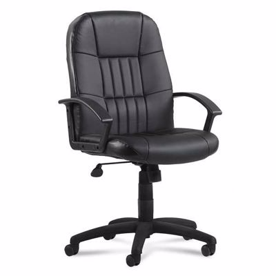 Picture of Black Leather Desk Chair