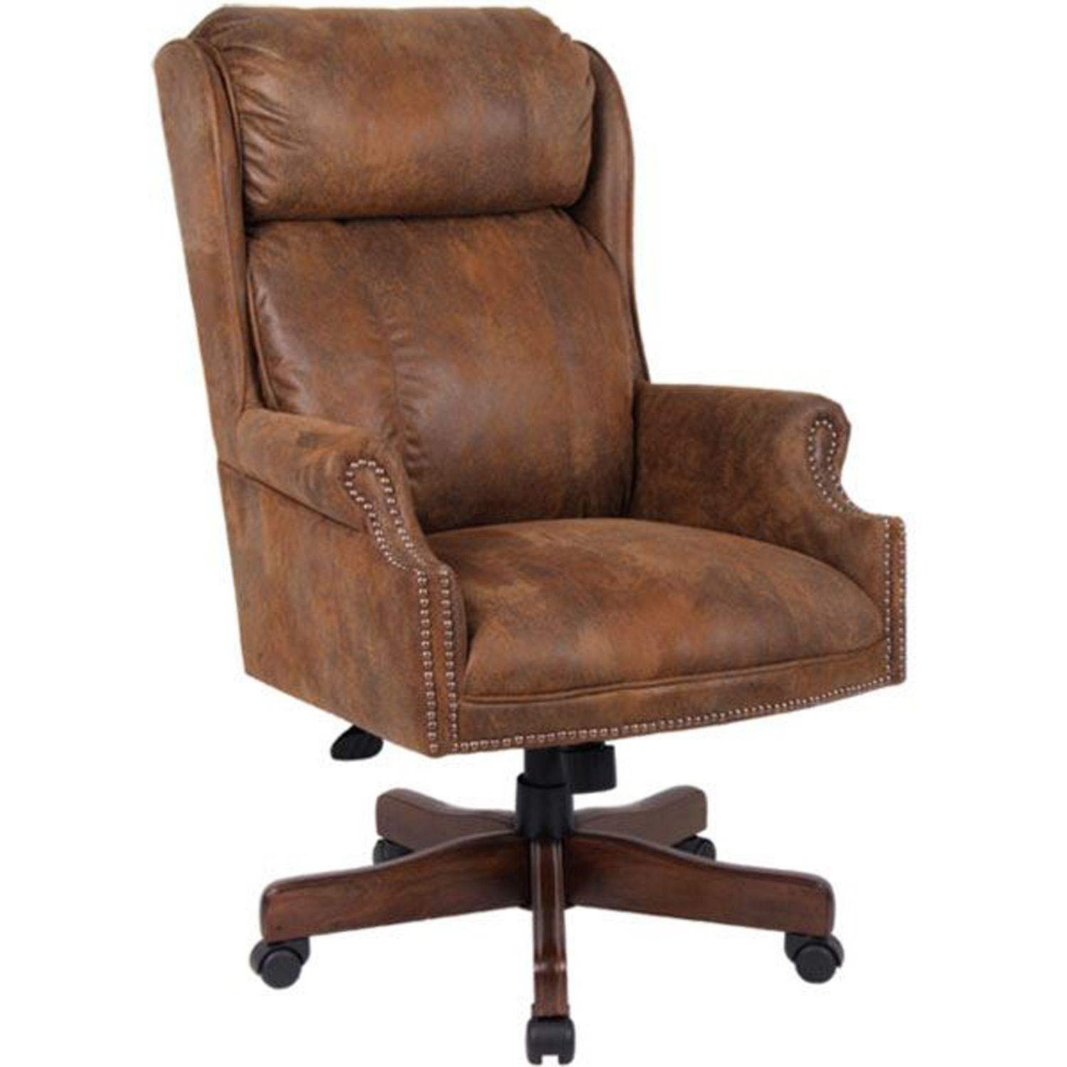 Centennial oak executive chair tobacco microfiber