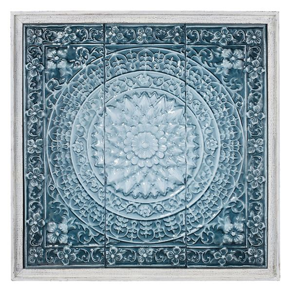 Picture of Blue Stamped Metal Wall Decor