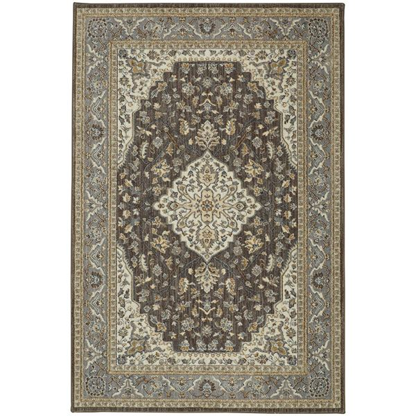 Picture of Kham Grey and Brown Traditional 8x10 Rug