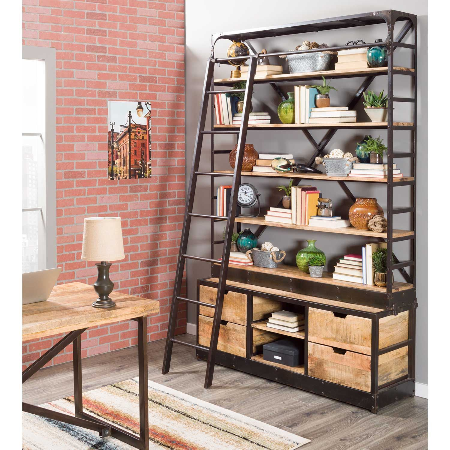 Picture of Wide Ladder Library Shelf