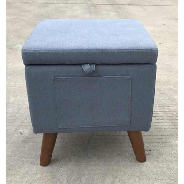 Picture of Blue Storage Ottoman
