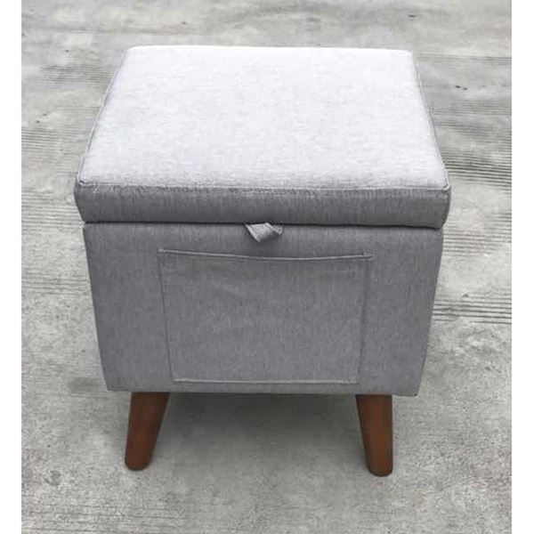 Picture of Grey Storage Ottoman