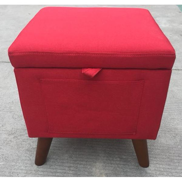 Picture of Red Storage Ottoman