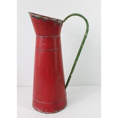Picture of Red Metal Pitcher