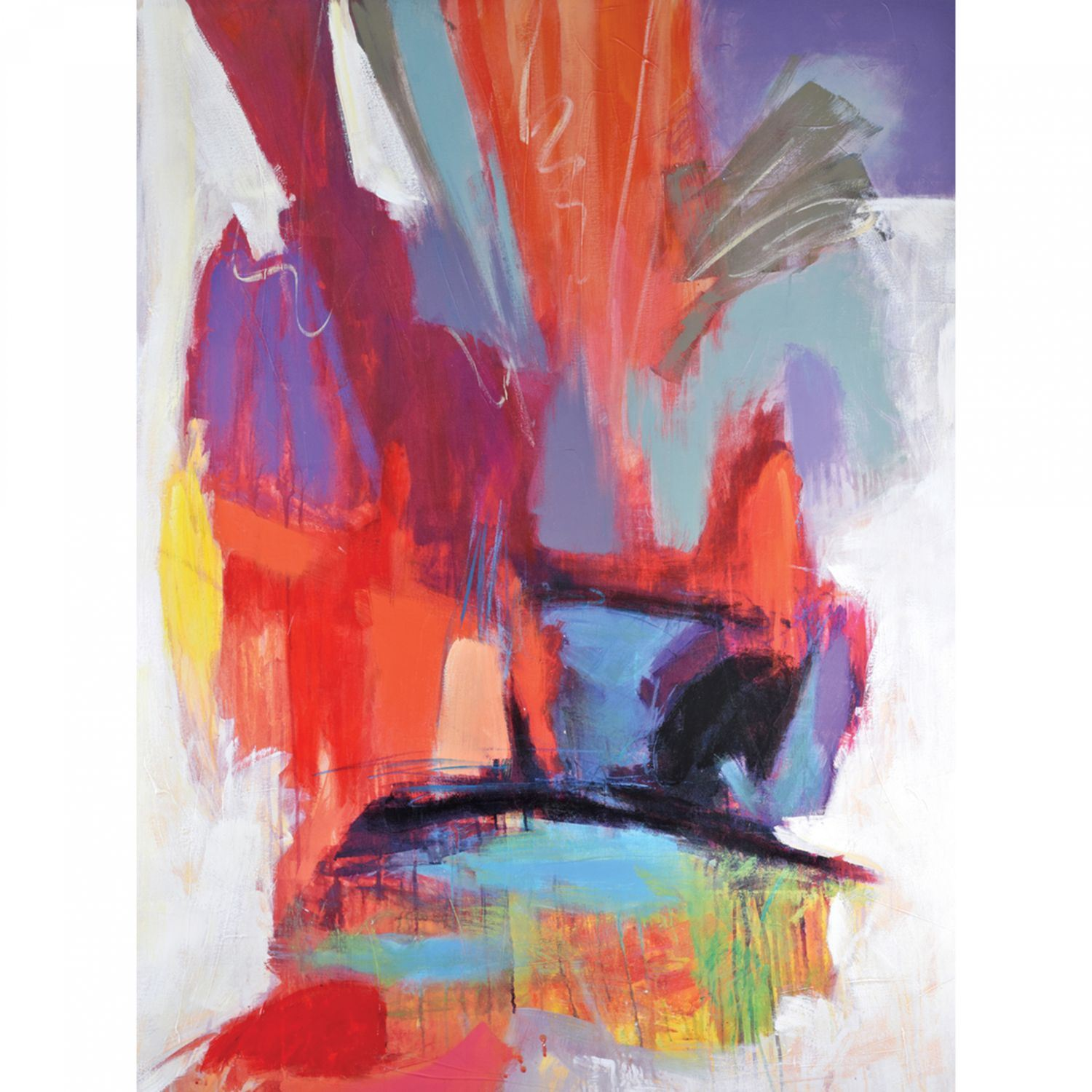 Picture of multi color abstract wall decor