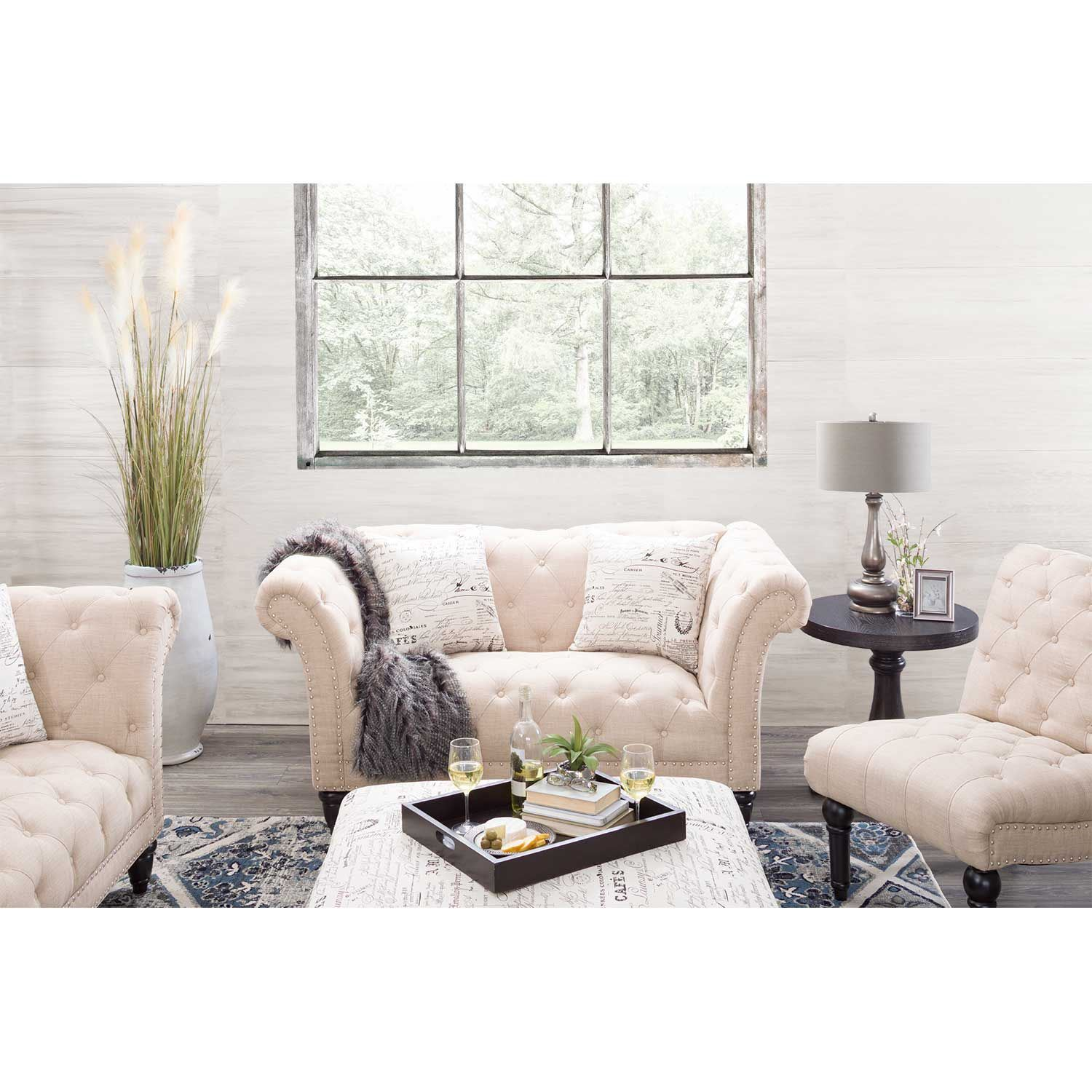 Picture of Audrey Tufted Armless Chair
