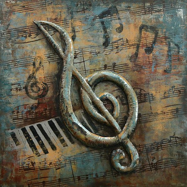 Picture of Musical Note Metal Wall Decor
