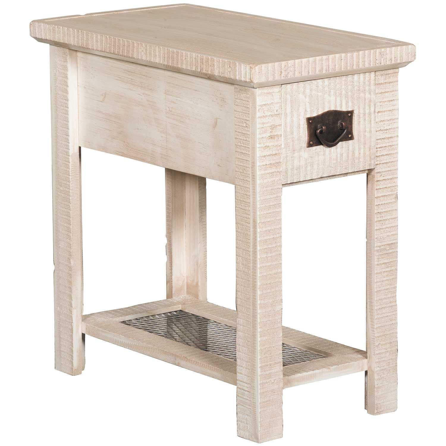 """Picture of 24"""" Chairside Table, White"""
