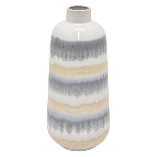 Picture of Grey Ivory Tan Vase