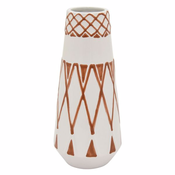 Picture of Spice and White Patterned Vase