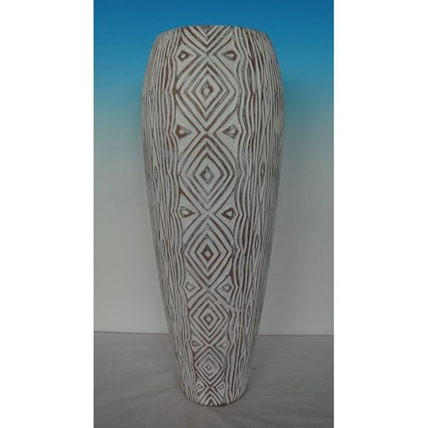Picture of White Designed Vase