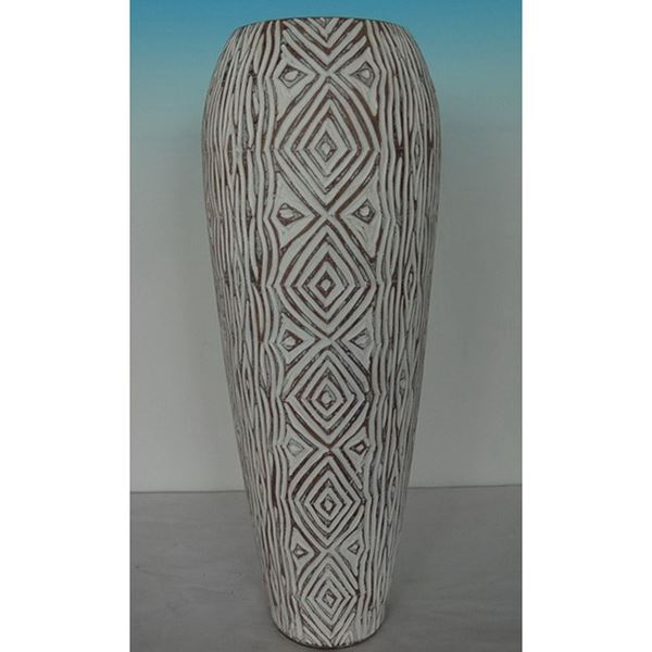 Picture of White Designed Vase