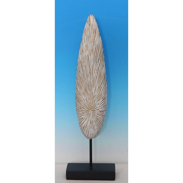Picture of White Tall Etched Sculpture