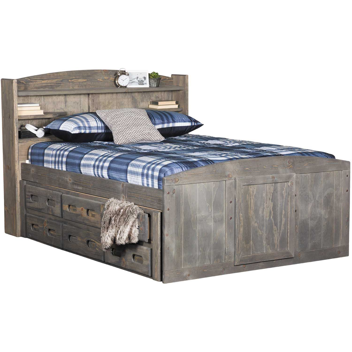 Palomino queen storage bed with two underbed storage units - Bed with storage underneath ...
