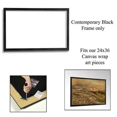 Picture of Contemporary Black Frame 24X36