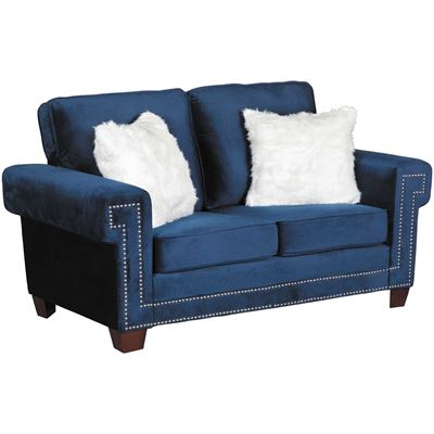 Picture of Ascot Navy Loveseat