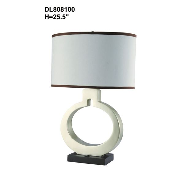 Picture of Black White Open Circle Lamp