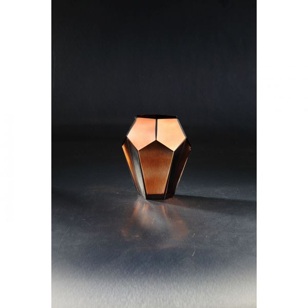 Picture of Chocolate Glass Angle Vase