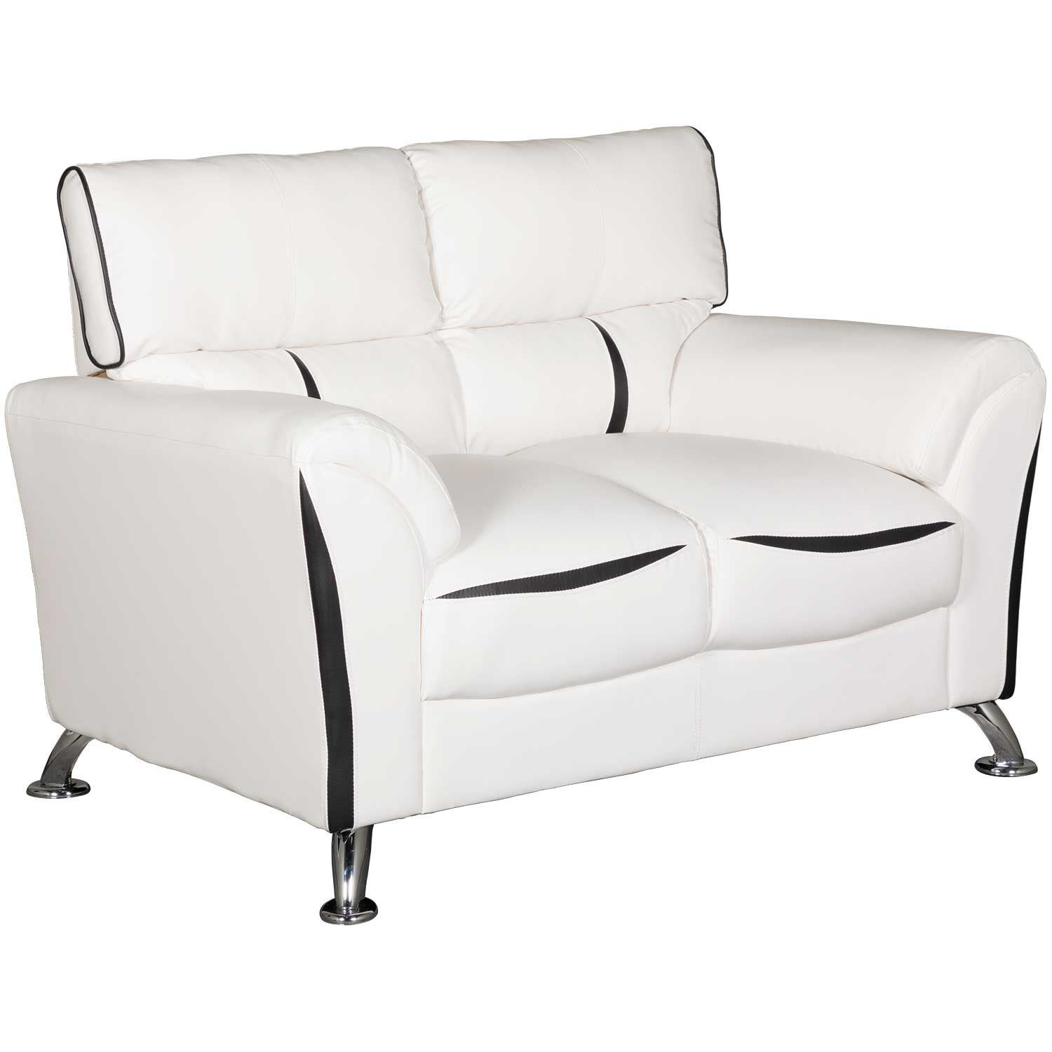 Terrific Tux White Loveseat Caraccident5 Cool Chair Designs And Ideas Caraccident5Info