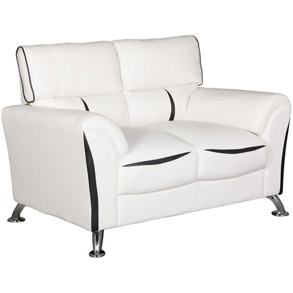 Picture of Tux White Loveseat