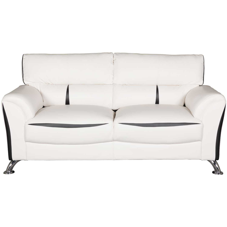 Tux White Sofa   U9100-WH/BL PVC-S   Global Furniture USA   AFW.com